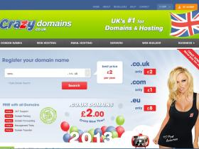 crazydomains继续域名超低价com1英镑等