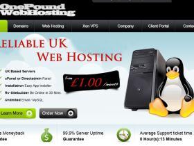 onepoundwebhosting-512m内存/XEN/40g/硬盘/300g流量/英国/月付4.4£