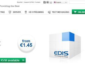 edis 7美元/月KVM/512M内存/30G硬盘/2t流量