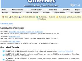 ginernet-4g内存/10gSSD/500g流量/Ddos保护/4.99欧